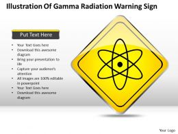 Business Management Consulting Illustration Of Gamma Radiation Warning Sign Powerpoint Slides 0527