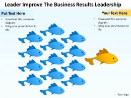 Business Management Consulting Leader Improve The Results Leadership Powerpoint Slides 0528