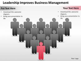 Business Management Consulting Leadership Improves Powerpoint Slides 0528