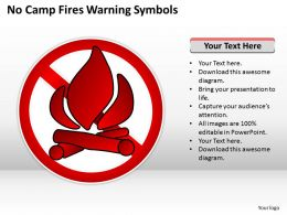 Business Management Consulting No Camp Fires Warning Symbols Powerpoint Slides 0528
