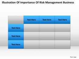 Business Management Consulting Of Importance Risk Powerpoint Slides 0527
