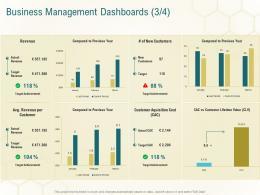 Business Management Dashboards Revenue Business Planning Actionable Steps Ppt Professional Aids