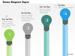 Business Management Diagram Flat Powerpoint Design