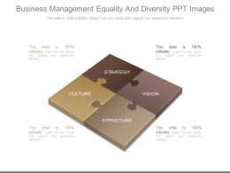 Business Management Equality And Diversity Ppt Images