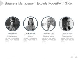 Business Management Experts Powerpoint Slide