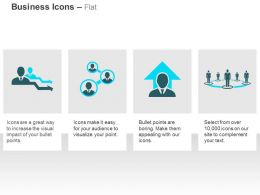 Business Management Hierarchy Network Team Leader Ppt Icons Graphics