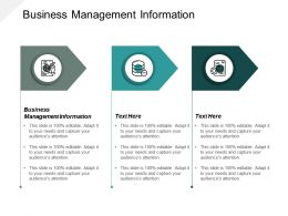 Business Management Information Ppt Powerpoint Presentation Ideas Layout Ideas Cpb