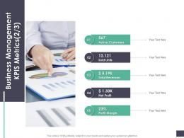 Business Management Kpis Metrics Active Business Analysi Overview Ppt Demonstration