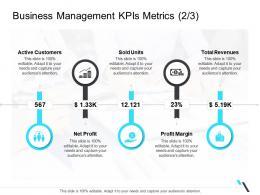 Business Management Kpis Metrics Revenues Business Operations Management Ppt Professional