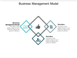 Business Management Model Ppt Powerpoint Presentation File Diagrams Cpb