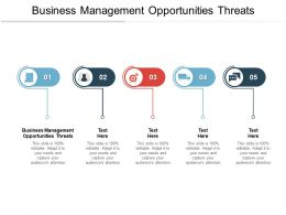 Business Management Opportunities Threats Ppt Powerpoint Presentation Styles Cpb