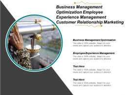 Business Management Optimization Employee Experience Management Customer Relationship Marketing Cpb