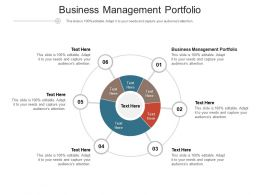 Business Management Portfolio Ppt Powerpoint Presentation Layouts Inspiration Cpb