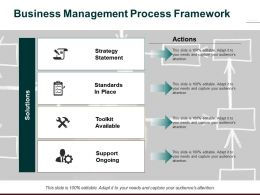 Business Management Process Framework Strategy Statement Standards In Place