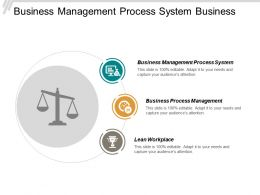 Business Management Process System Business Process Management Lean Workplace Cpb