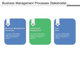 Business Management Processes Stakeholder Engagement Project Planning Process Modelling Cpb