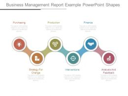 Business Management Report Example Powerpoint Shapes
