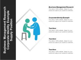 Business Management Research Corporate Identity Example Supply Position Cpb