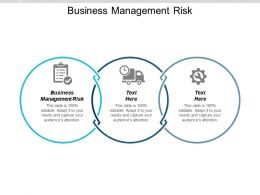Business Management Risk Ppt Powerpoint Presentation Gallery Topics Cpb