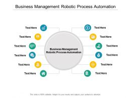 Business Management Robotic Process Automation Ppt Powerpoint Presentation Summary Inspiration Cpb