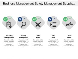 Business Management Safety Management Supply Management Marketing Research Cpb