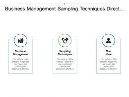 business_management_sampling_techniques_direct_marketing_project_management_cpb_Slide01