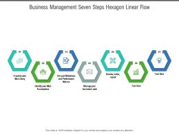 Business Management Seven Steps Hexagon Linear Flow