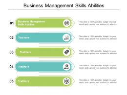 Business Management Skills Abilities Ppt Powerpoint Presentation Professional Background Cpb