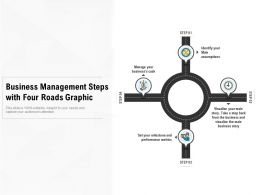 Business Management Steps With Four Roads Graphic