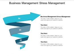 Business Management Stress Management Ppt Powerpoint Presentation Infographic Cpb