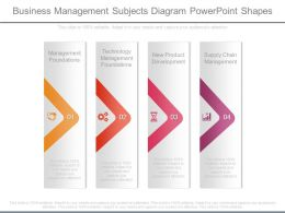 Business Management Subjects Diagram Powerpoint Shapes