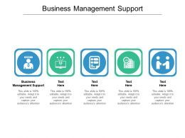 Business Management Support Ppt Powerpoint Presentation Ideas Guide Cpb