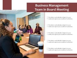 Business Management Team In Board Meeting