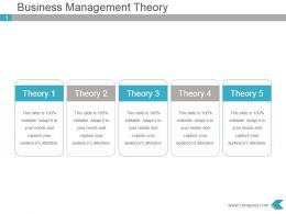 Business Management Theory Powerpoint Presentation Slides