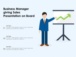 Business Manager Giving Sales Presentation On Board