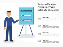 Business Manager Presenting Tasks Details To Employees