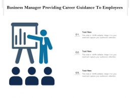 Business Manager Providing Career Guidance To Employees