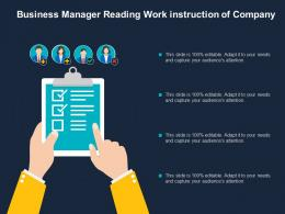 Business Manager Reading Work Instruction Of Company