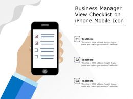 Business Manager View Checklist On Iphone Mobile Icon