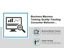 Business Manners Training Quality Tracking Consumer Behavior Marketing Cpb