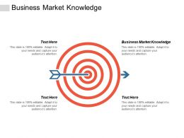Business Market Knowledge Ppt Powerpoint Presentation Gallery Slides Cpb