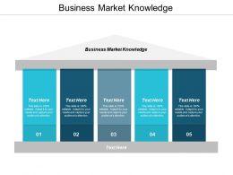Business Market Knowledge Ppt Powerpoint Presentation Model Slide Portrait Cpb