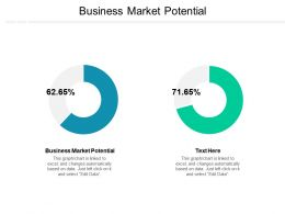 Business Market Potential Ppt Powerpoint Presentation Gallery Slides Cpb