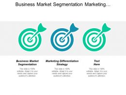 Business Market Segmentation Marketing Differentiation Strategy Personal Development Cpb