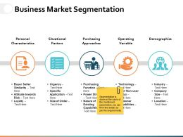 Business Market Segmentation Ppt Powerpoint Presentation File Background Images