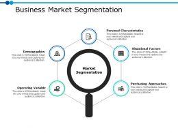 Business Market Segmentation Ppt Powerpoint Presentation File Mockup