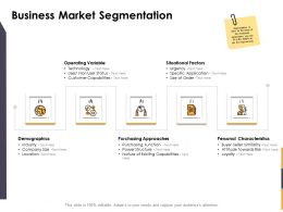 Business Market Segmentation Ppt Powerpoint Presentation Outline Example