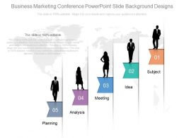 Business Marketing Conference Powerpoint Slide Background Designs