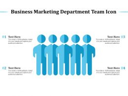 Business Marketing Department Team Icon