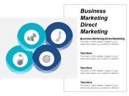 Business Marketing Direct Marketing Ppt Powerpoint Presentation File Professional Cpb
